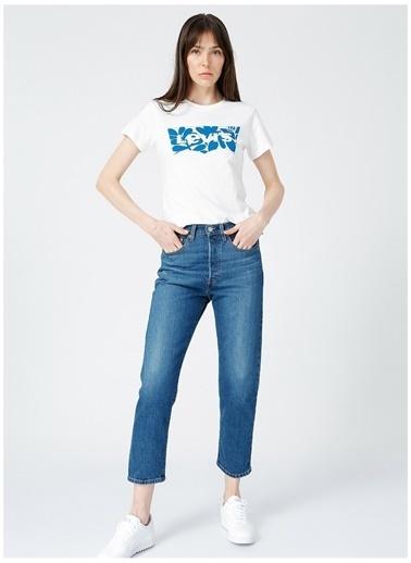 Levi's® Levis Kadın Bisiklet Yaka Baskılı BeyazT-Shirt Beyaz